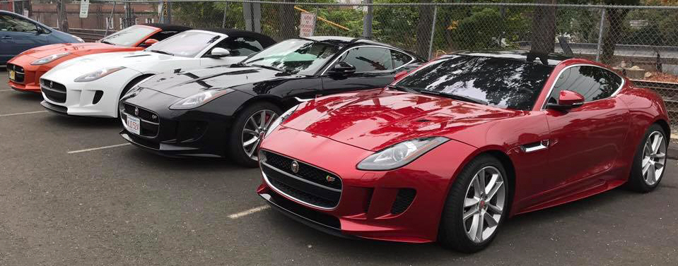 Group photo of our Jaguar F-Type